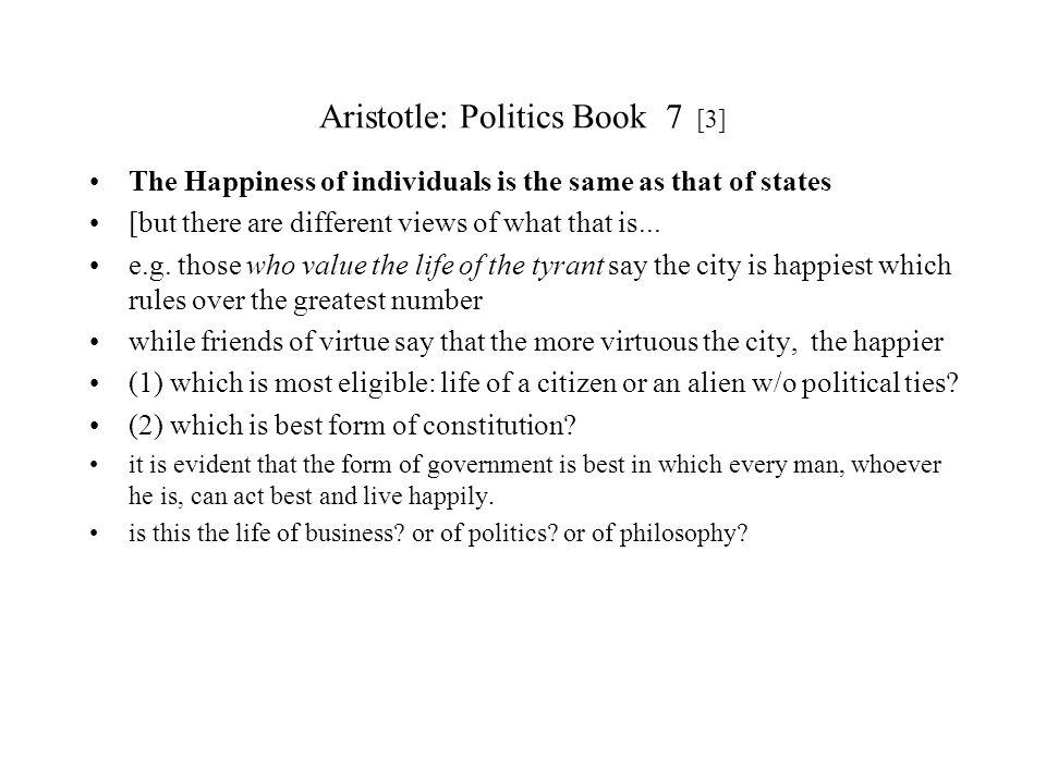 Aristotle: Politics Book 7 [3]